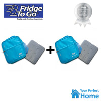 2 x Fridge To Go Small Insulated Lunch Bag with Cooling Panel Bundle