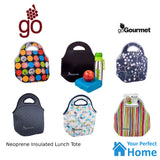 Go Gourmet Lunch Tote Insulated Neoprene Carry Bag With Zip
