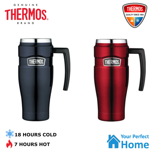 Genuine Thermos Stainless Steel Vacuum Insulated Travel Mug with Handle 470ml