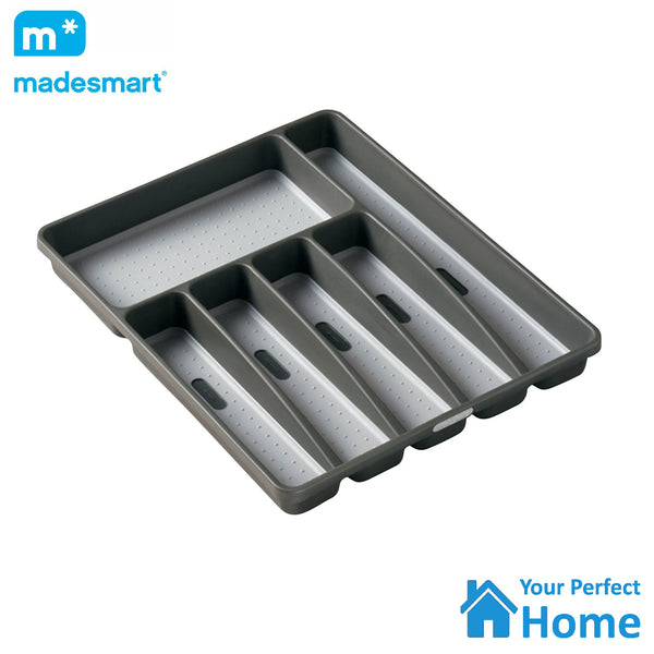 Madesmart 6 Compartment Non Slip Cutlery Draw Organiser Tray