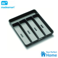 Madesmart 5 Compartment Non Slip Cutlery Draw Organiser Tray