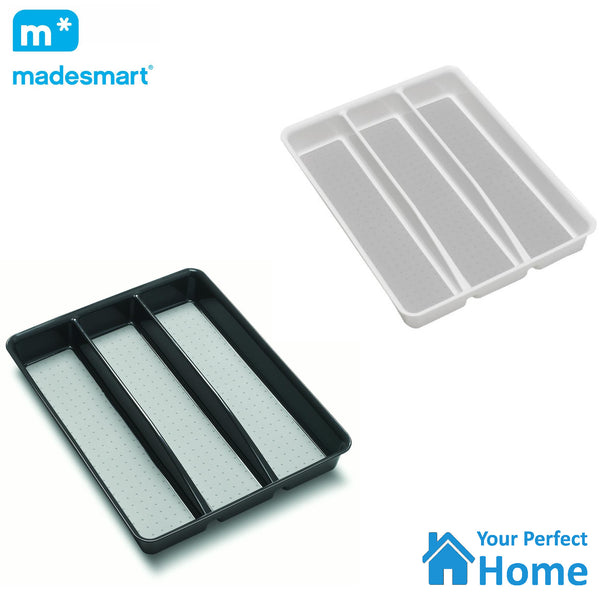 Madesmart 3 Compartment Large Non Slip Utensil Organiser Tray