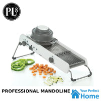 PL8 Progressive 1000 Professional Mandoline Vegetable Slicer, Julienne and Waffle