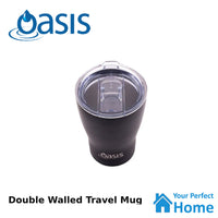 Oasis 340ml S/S Coffee Double Wall Insulated Travel Mug Cup with Lid