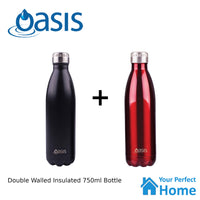 2 x Oasis 750ml S/S Vacuum Insulated Drink Bottle