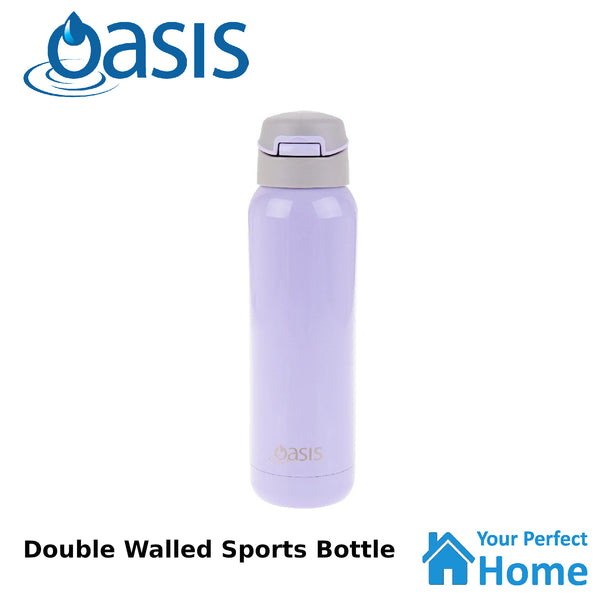 Oasis 500ml S/S Vacuum Insulated Sports Water Bottle with Straw