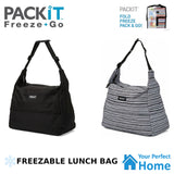 Packit Freezable Hobo Lunch Bag with Built in Gel Walls