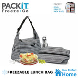 2 x Packit Freezable Hobo Lunch Bag with Built in Gel Walls