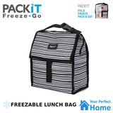 Packit Freezable Lunch Bag with Zip Closure & Carry Strap