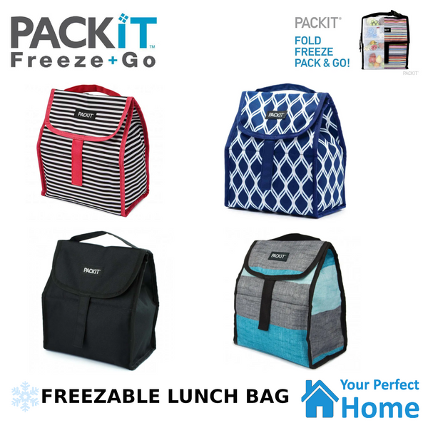 Packit Freezable Lunch Sack Food/Drink Storage Bag Container