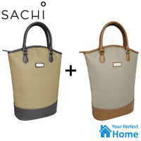 2 x Sachi 2 Bottle Insulated Wine Bag 8831 Carrier Tote Purse BYO