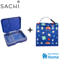 NEW Sachi 4 Compartment Bento Lunch Box with Insulated Lunch Pouch Tote Style 226