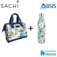 Sachi Style 34 Insulated Lunch Bag Tote with 750ml Oasis Insulated Bottle Whitsundays Gift Set