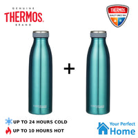 2x Thermos THERMOcafe 500ml Stainless Steel Vacuum Insulated Drink Bottle