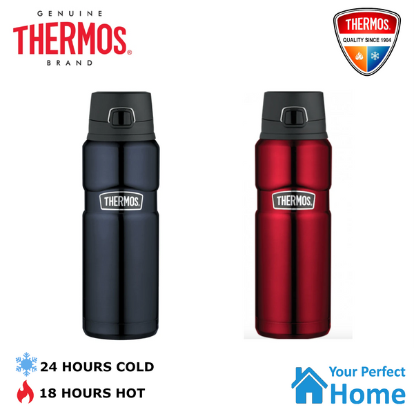 Thermos King Stainless Steel Vacuum Insulated Bottle 710ml Flip Lid