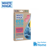 x2 White Magic Eco Cloth Bathroom with Bonus Cleaning Cloth Packs