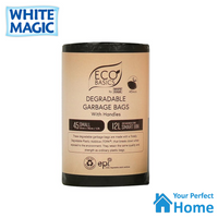x3 White Magic Eco Basics Degradable Garbage Bags – 45 bags of 12L with Handles