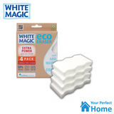 2 x White Magic Microfibre Extra Power Cleaning Eraser Sponge 4 Pack