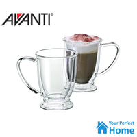 2 x  Avanti Twin Wall Glass Oko 2pc Mug 250ml Thermal Glasses Espresso/Coffee/Tea Cup