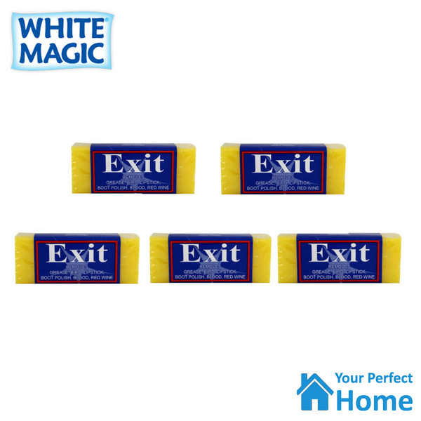 5 x White Magic Exit Soap Bar Stain Remover