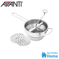 Avanti Rotary Food Mill Professional Stainless Steel Heavy Duty 3 Blades Ricer/Mouli