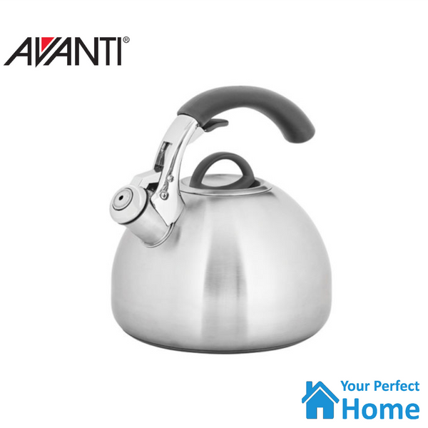 Avanti Varese Stainless Steel Whistling Kettle 2.5 Litre Kitchen Stove Top/Induction