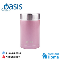 Oasis 450ml S/S Vacuum Double Wall Insulated Flask Food Jar