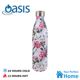 Patterned Oasis 750ml S/S Double Walled Vacuum Insulated Drink Bottle
