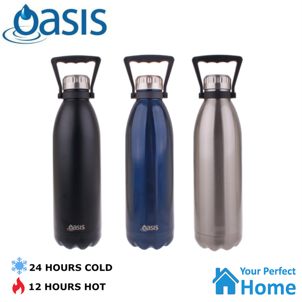 1.5L Oasis Drink Bottle Double Walled Vacuum Insulated Stainless Steel Water