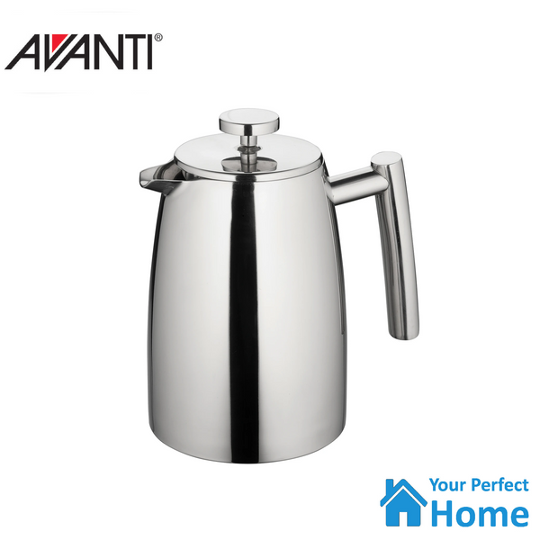 Avanti Modena Stainless Steel Twin Wall Coffee Plunger 1 Litre Espresso Press