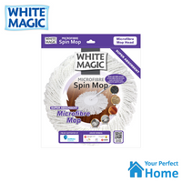 White Magic Replacement Microfibre Spin Mop Head