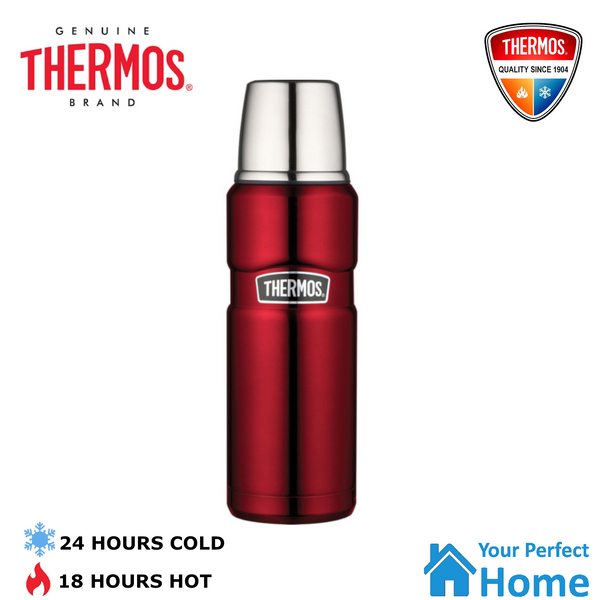 Thermos King Vacuum Insulated Stainless Steel Flask Beverage Bottle 470ml