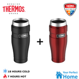 2 x Thermos Stainless King S/Steel Vacuum Insulated Tumbler 470ml