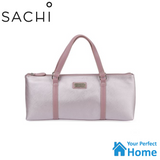 Sachi Wine Bottle Handbag Tote with 220ml Cheeki Insulated Wine Tumbler with S/S Straw and Lid Gift Set Pink