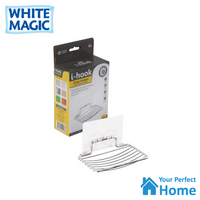 White Magic i-Hook Stainless Steel Suction Soap Holder