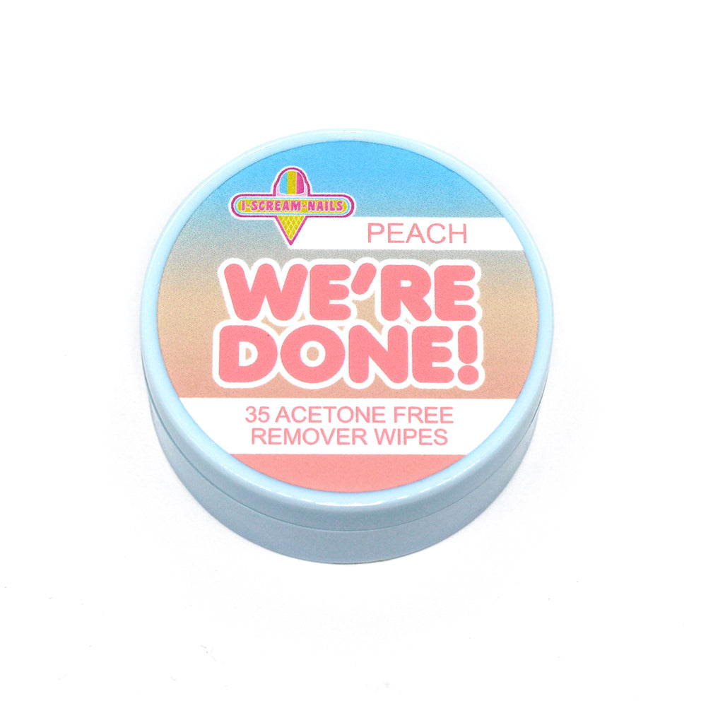 We're Done! PEACH SCENTED remover wipes