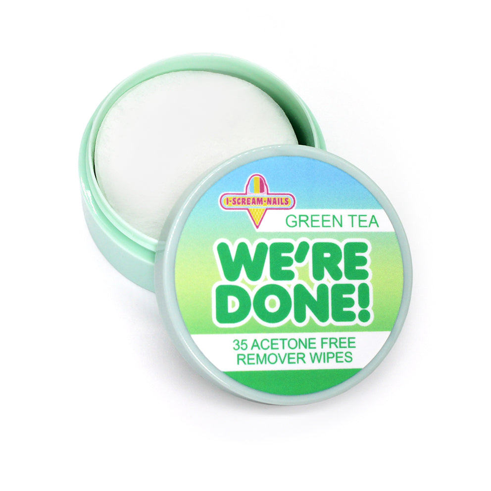We're Done! GREEN TEA remover wipes
