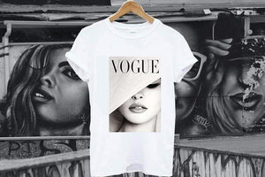 Tricou White Vogue