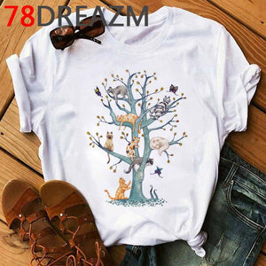 Tricou Oversized Cats On tree