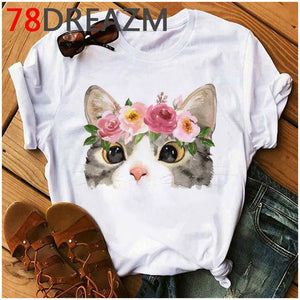 Tricou Oversized Flower Cats