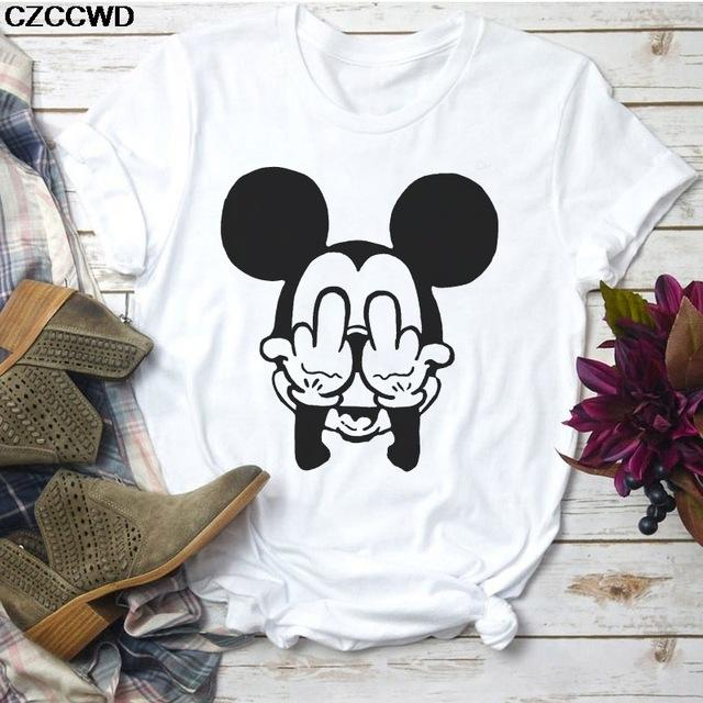 Tricou Mickey Face Middle Finger - Sabas