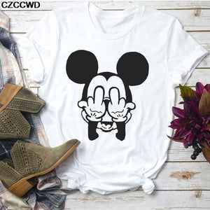 Tricou Mickey Face Middle Finger