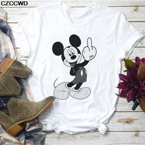 Tricou Mickey Middle Finger
