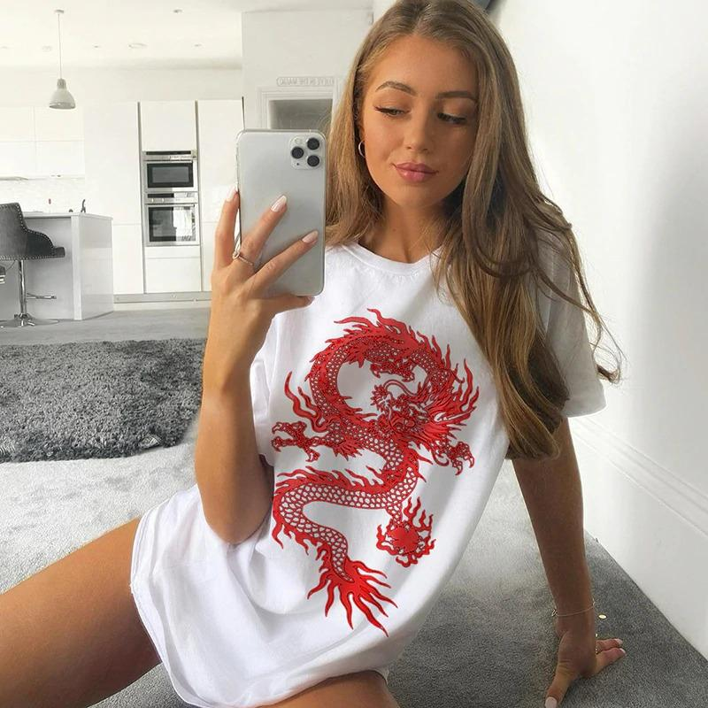Tricou Oversized Red Dragon Star - Sabas