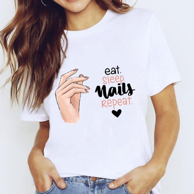 Tricou  Eat Sleep Nails Repeat - Sabas