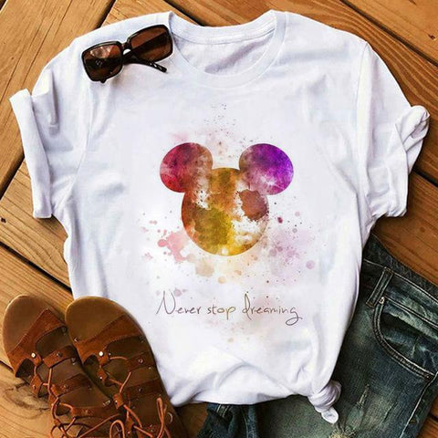 Tricou Never Stop Dreaming Colored