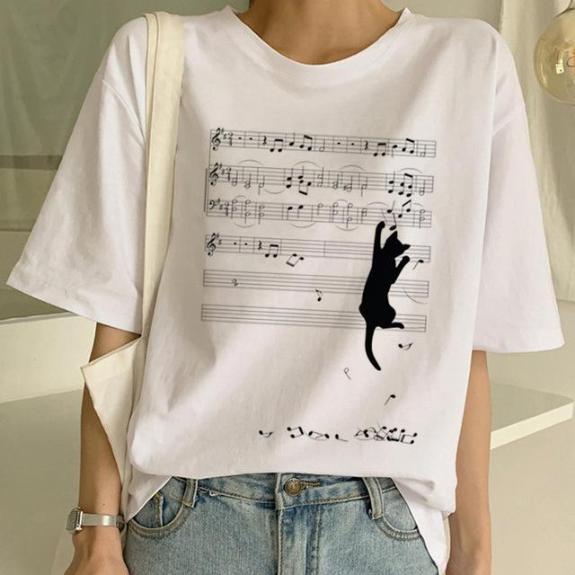 Tricou Oversized Music Track & Cat - Sabas