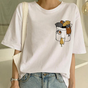 Tricou Oversized Mini Cats