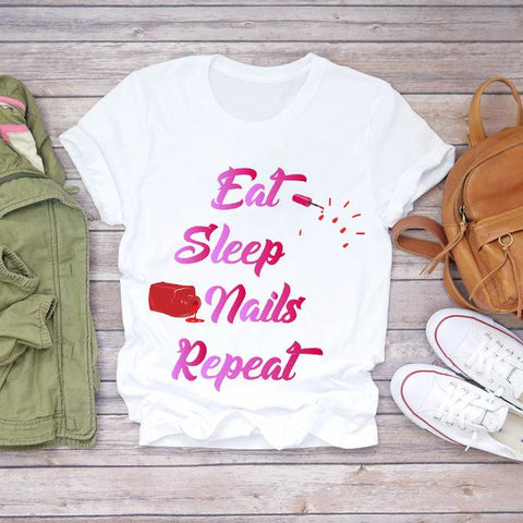 Tricou Eat Sleep Nails Repeat