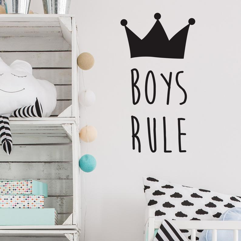 Boys Rule Wall Stickers - Sabas